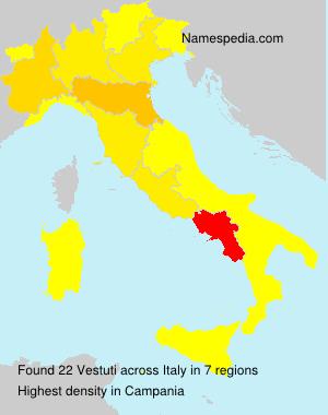Surname Vestuti in Italy