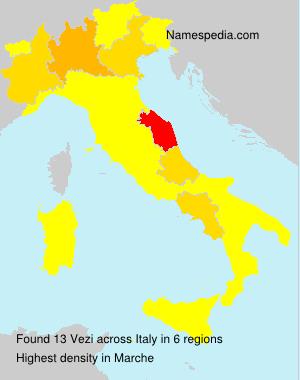 Surname Vezi in Italy