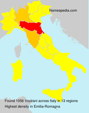 Surname Vezzani in Italy