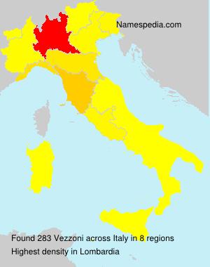 Surname Vezzoni in Italy