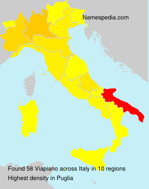 Surname Viapiano in Italy