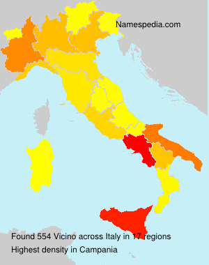 Surname Vicino in Italy