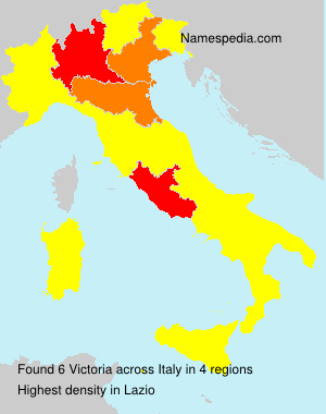 Surname Victoria in Italy