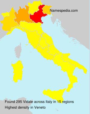 Familiennamen Vidale - Italy