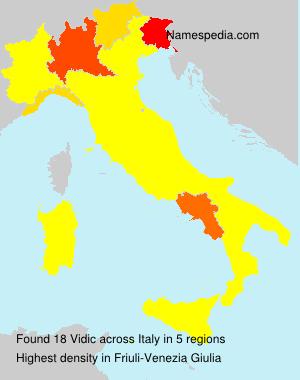 Surname Vidic in Italy