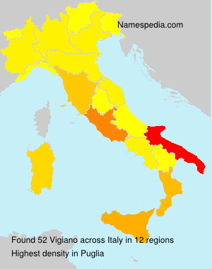 Surname Vigiano in Italy