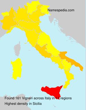 Surname Vigneri in Italy