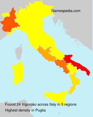 Surname Vigoroso in Italy