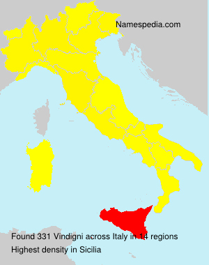 Surname Vindigni in Italy