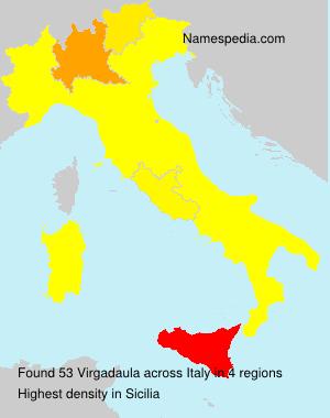 Surname Virgadaula in Italy