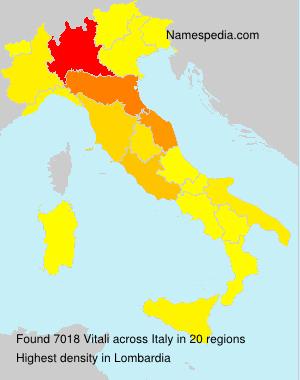 Familiennamen Vitali - Italy