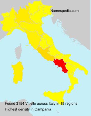Surname Vitiello in Italy