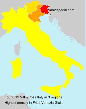 Surname Vitt in Italy