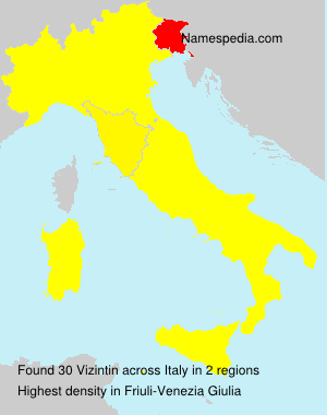 Surname Vizintin in Italy