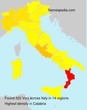 Familiennamen Voci - Italy