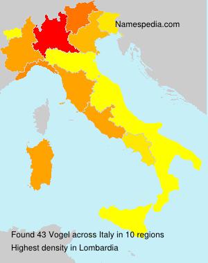 Familiennamen Vogel - Italy