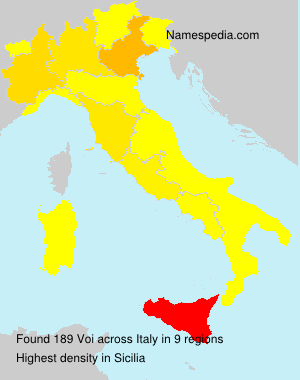 Surname Voi in Italy