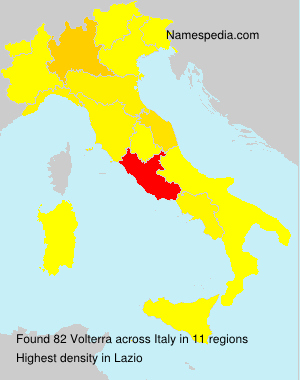 Surname Volterra in Italy