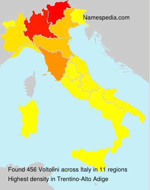 Surname Voltolini in Italy