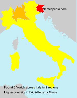 Surname Vorich in Italy