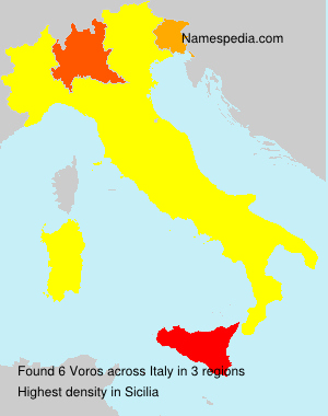 Surname Voros in Italy