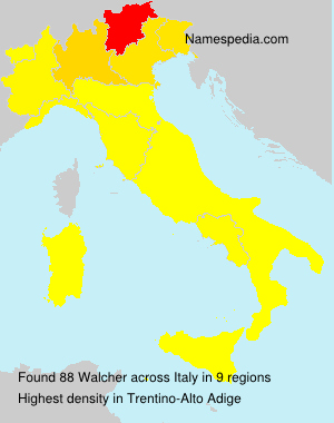 Surname Walcher in Italy