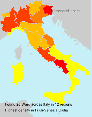 Surname Ward in Italy