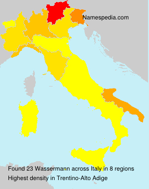 Surname Wassermann in Italy