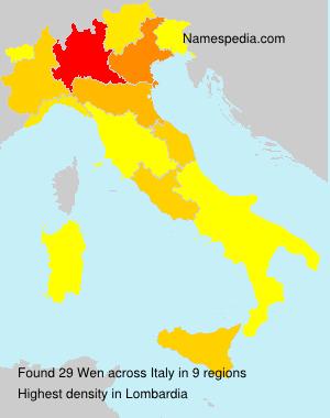 Familiennamen Wen - Italy