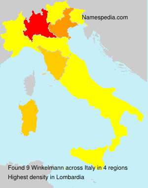 Surname Winkelmann in Italy