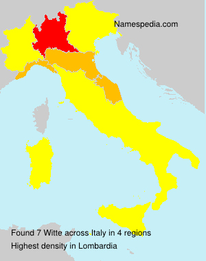 Surname Witte in Italy