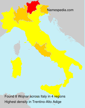 Surname Wojnar in Italy