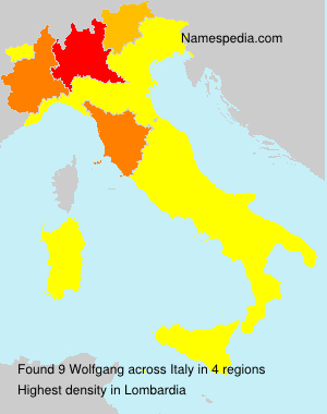 Surname Wolfgang in Italy