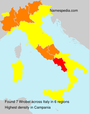 Surname Wrobel in Italy