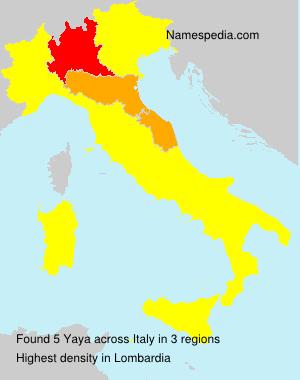 Familiennamen Yaya - Italy