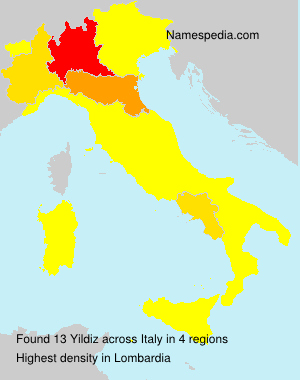 Surname Yildiz in Italy
