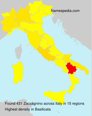 Surname Zaccagnino in Italy