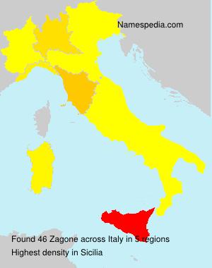 Familiennamen Zagone - Italy