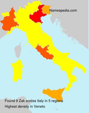Familiennamen Zak - Italy