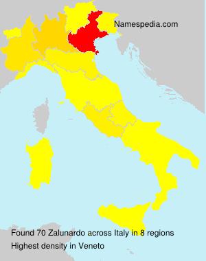 Surname Zalunardo in Italy
