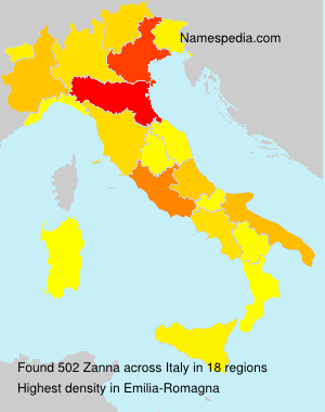 Surname Zanna in Italy