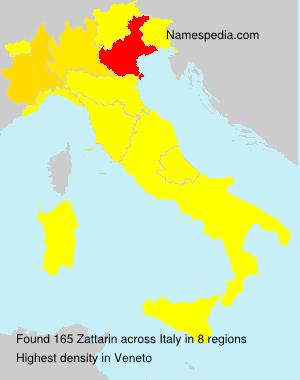 Surname Zattarin in Italy