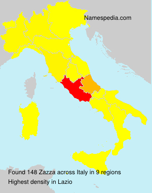Surname Zazza in Italy