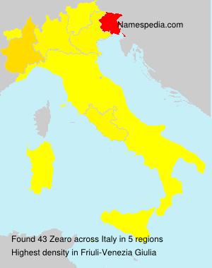 Surname Zearo in Italy