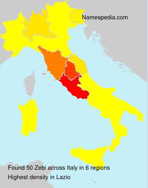 Surname Zebi in Italy