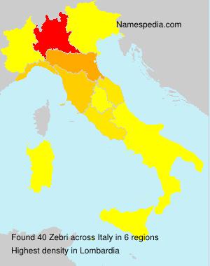 Surname Zebri in Italy