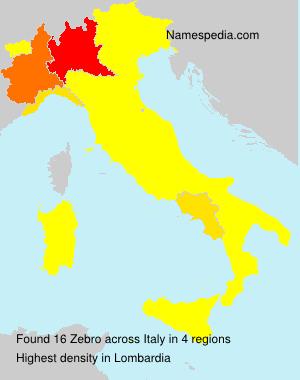 Surname Zebro in Italy