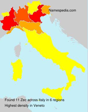 Surname Zec in Italy