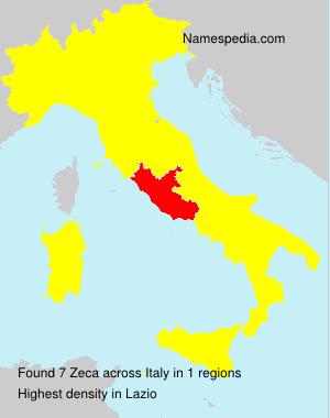 Surname Zeca in Italy