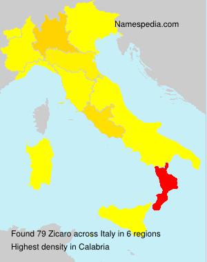 Familiennamen Zicaro - Italy